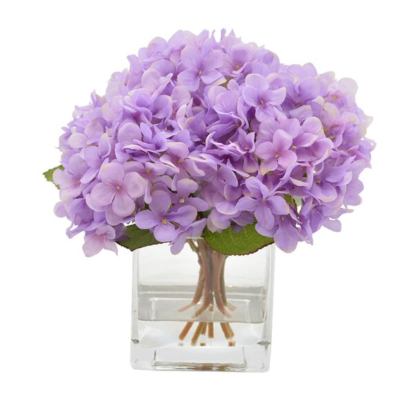 Hydrangea Flower Arrangement in Decorative Vase by Ophelia & Co.