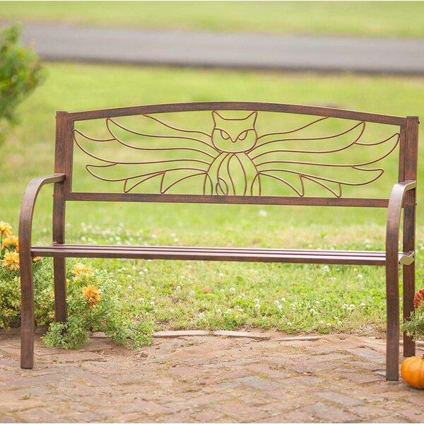 Owl Metal Garden Bench by Wind & Weather