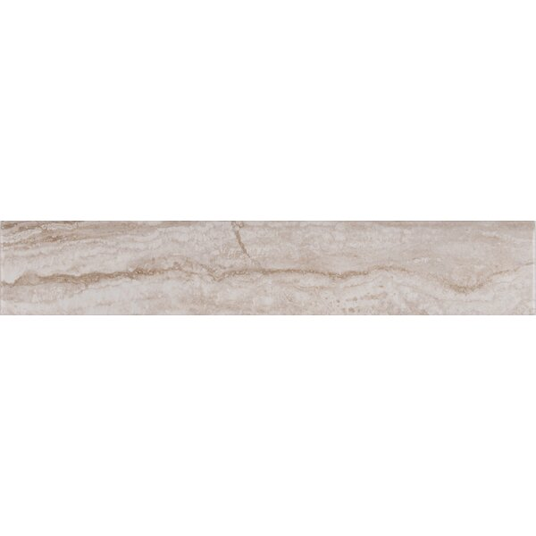 Bernini Camo Matte Bull Nose 3 x 18 Porcelain Tile in Gray by MSI