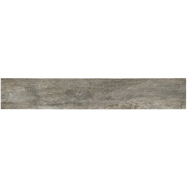 Duzhoor 8 x 48 Porcelain Wood Look Tile in Ember by Splashback Tile