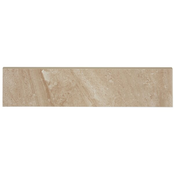 Florentine 12 x 3 Ceramic Bullnose Tile Trim in Nocilla by Daltile