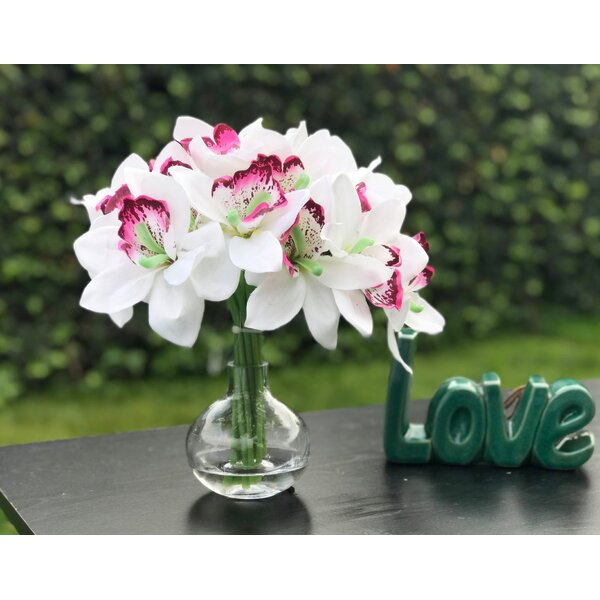 Artificial Orchids Floral Arrangement by Bay Isle Home