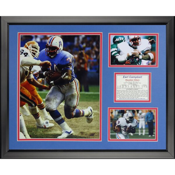 NFL Houston Texans - Earl Campbell Framed Memorabili by Legends Never Die