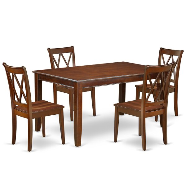 Konen 5 Piece Solid Wood Dining Set by August Grove