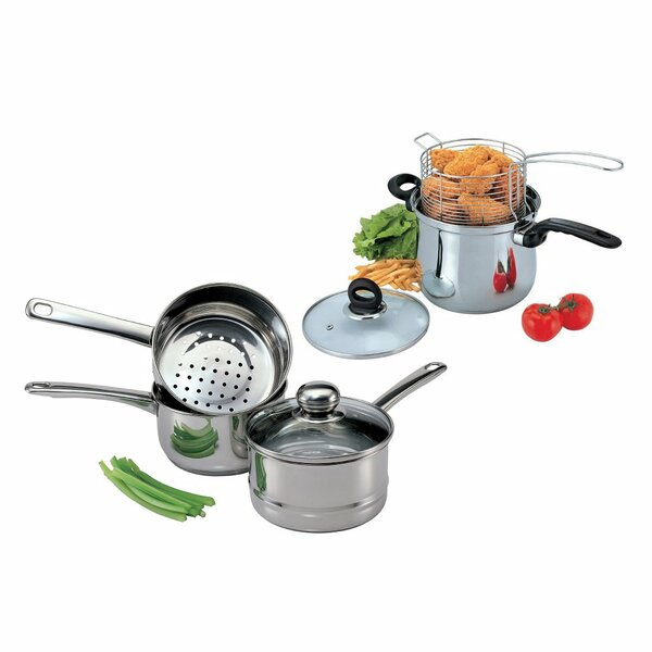 Stainless Steel 7-Piece Cookware Set by Culinary Edge