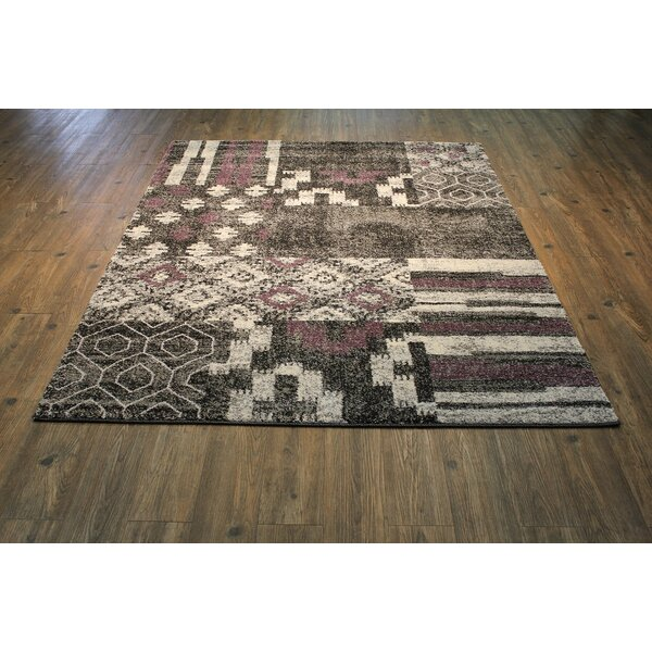 Hadlock Persian Gray/Red/Beige Area Rug by Bungalow Rose