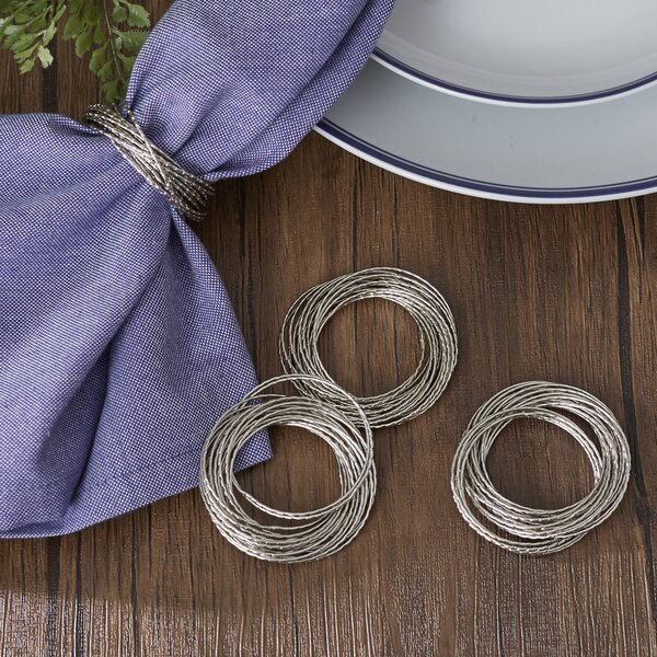 Layered Bangles Napkin Rings (Set of 4) by Birch Lane™