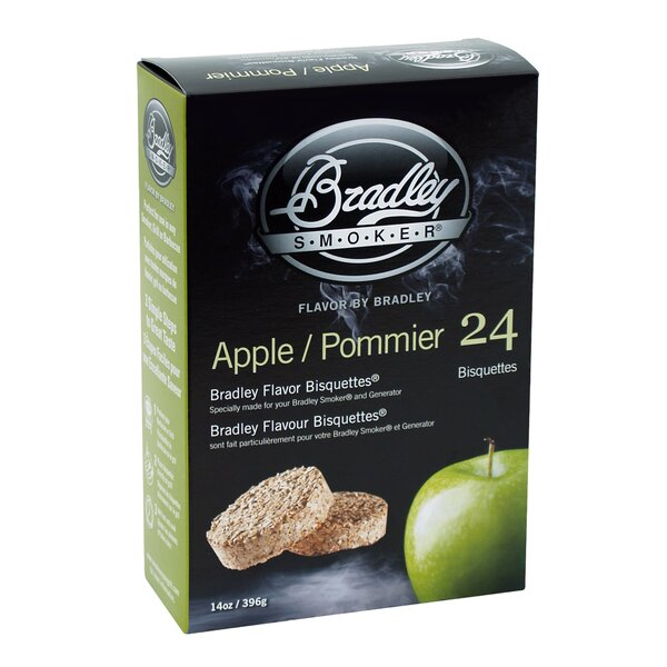 Apple Flavor Bisquettes (Set of 24) by Bradley Smoker