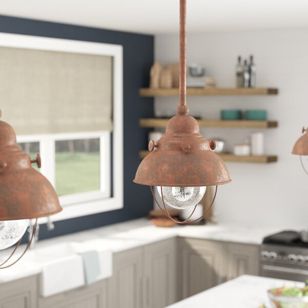 Salvaggio 1-Light LED Pendant by Beachcrest Home