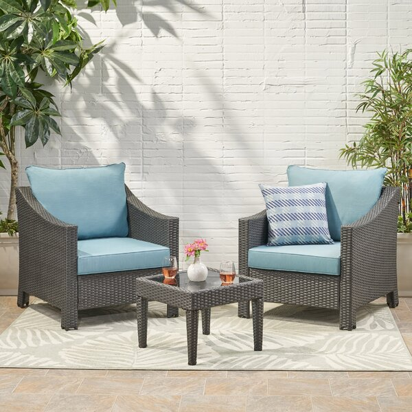 Portola 3 Piece Seating Group with Cushions by Sol 72 Outdoor