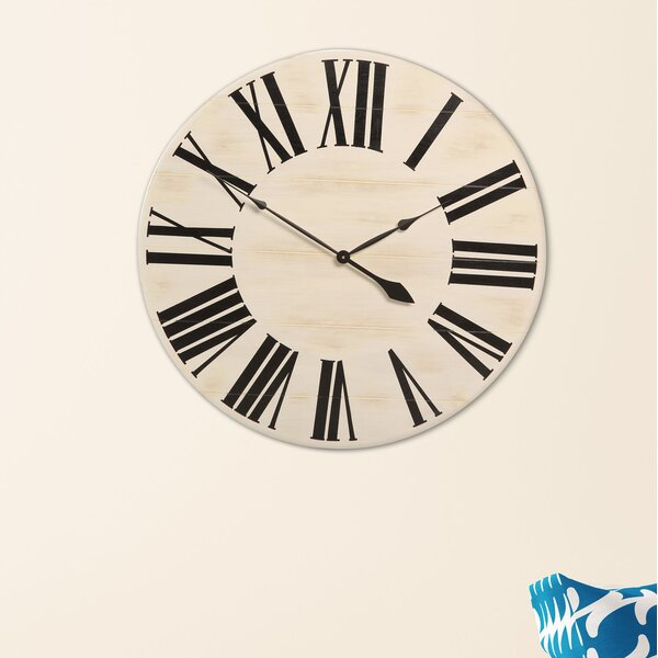 Oversized Farmhouse Wall Clock by Brandt Works LLC