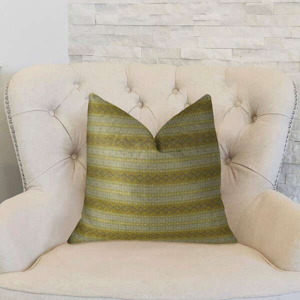 Full Stripe Handmade Throw Pillow by Plutus Brands
