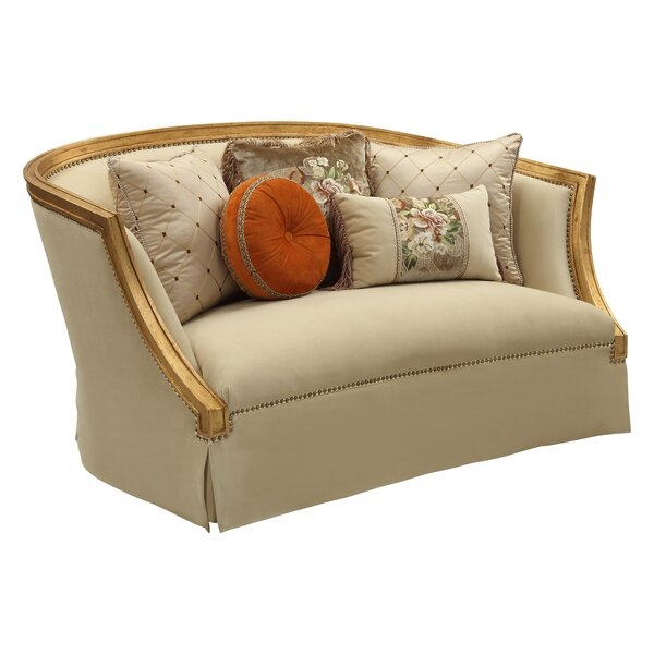Jaylan Curved Loveseat By Astoria Grand