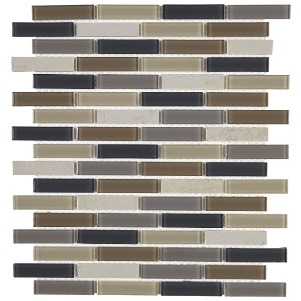 Gibson 12 x 13 Mixed Material Mosaic Tile in Skyline by Itona Tile