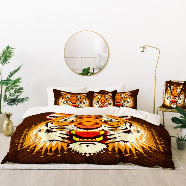 Chobopop Geometric Tiger Duvet Cover Set