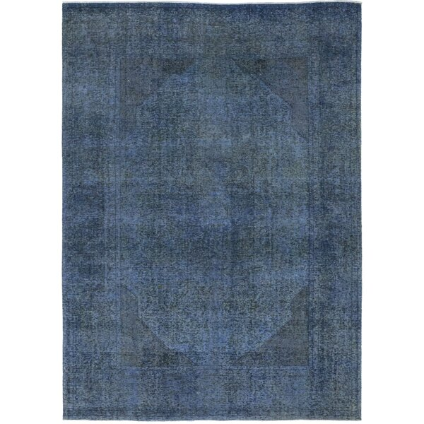 One-of-a-Kind Liebel Hand-Knotted Wool Blue Indoor Area Rug by Bloomsbury Market