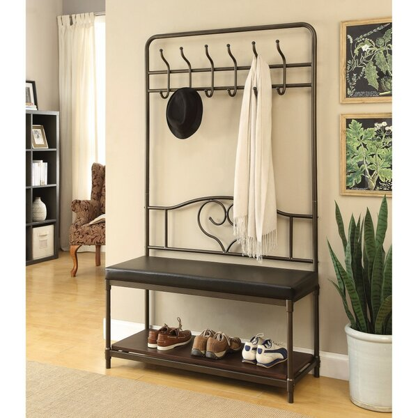 Coleville Metal Hall Tree with Additional Shelf by Fleur De Lis Living
