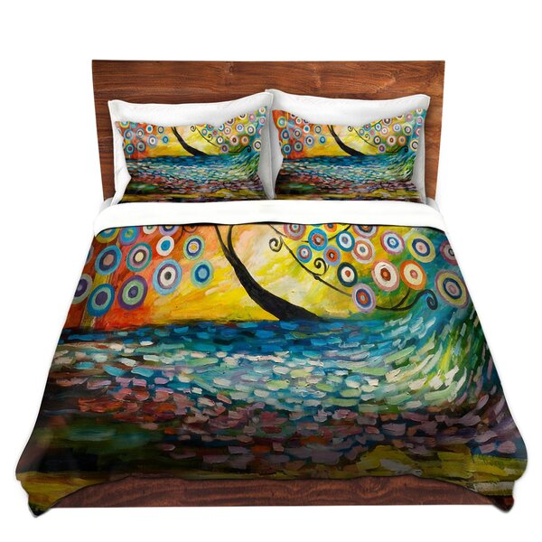 Abstract Blossom III Duvet Cover Set