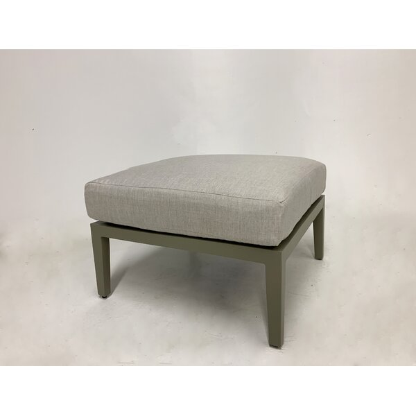 Dunkelberger Outdoor Ottoman with Sunbrella Cushion by Darby Home Co