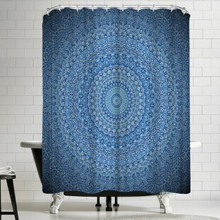 Price comparison Wonderful Dream Mandala Buddha Shower Curtain ByEast Urban Home