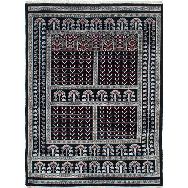 One-of-a-Kind Do Hand-Knotted Black Area Rug by Isabelline