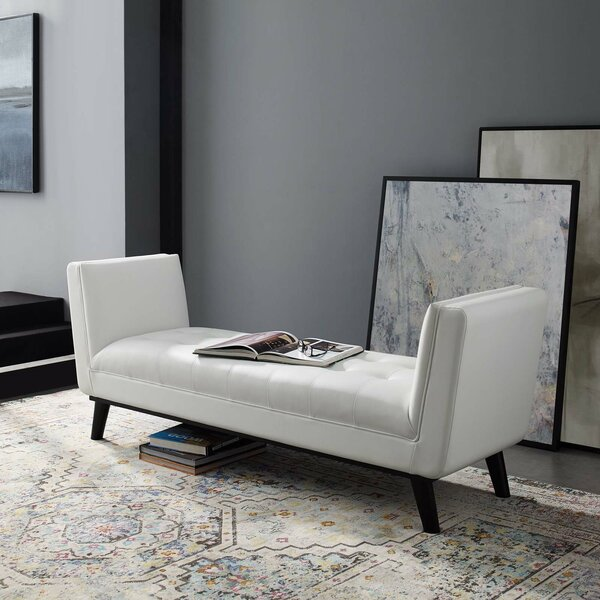 Tamela Faux Leather Bench by Wrought Studio