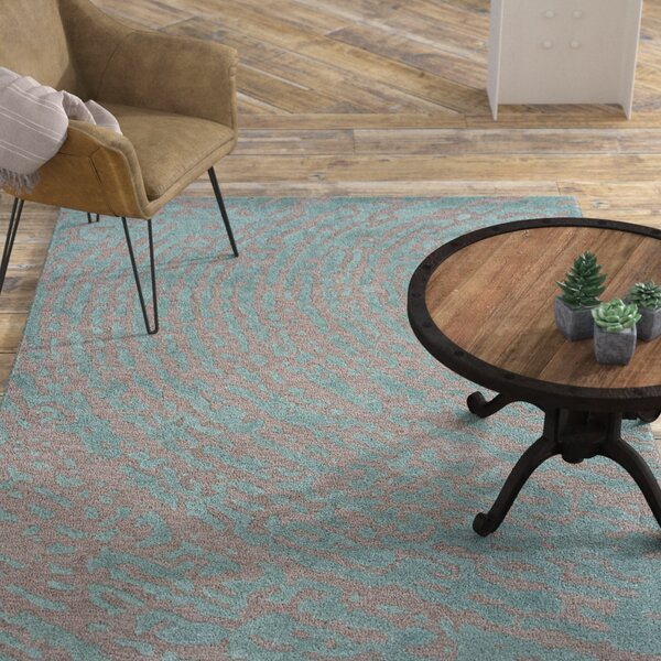 Elyse Gray & Blue Area Rug by Williston Forge