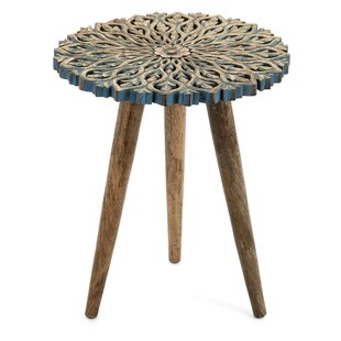 Camellia Carved End Table