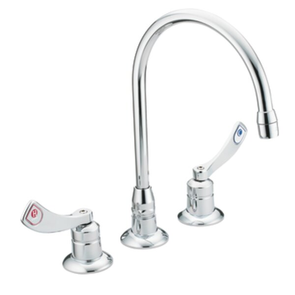 M-Dura Widespread Bathroom Faucet with Cold and Hot Handles by Moen