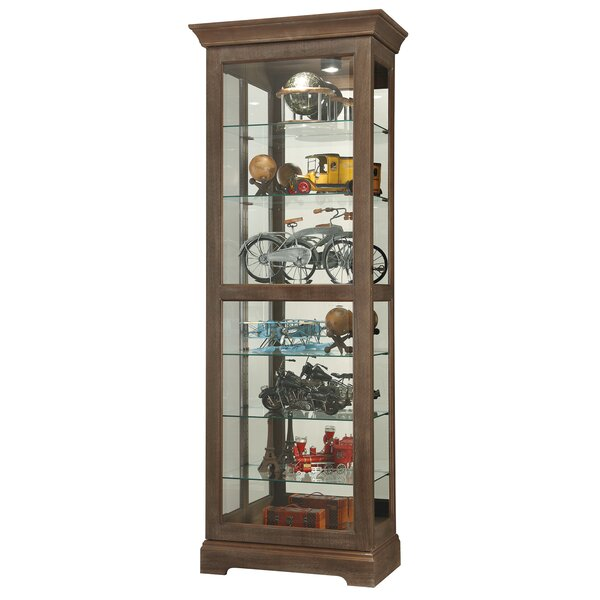 Bricelyn Lighted Curio Cabinet by Darby Home Co