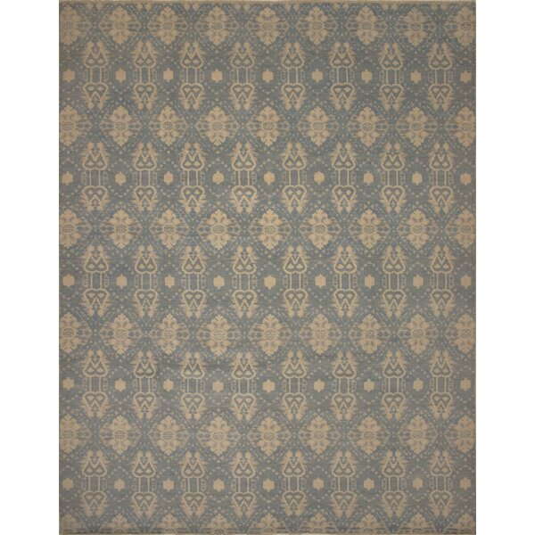 One-of-a-Kind Millican Fine Oushak Gustavo Hand-Knotted Wool Brown/Blue Area Rug by Bloomsbury Market