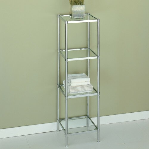 13.25 W x 48 H Bathroom Shelf by Rebrilliant