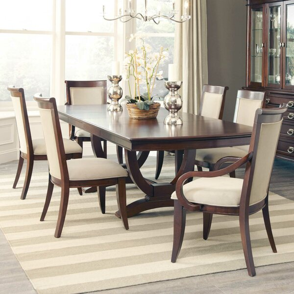 Brooking 7 Piece Extendable Solid Wood Dining Set by Darby Home Co