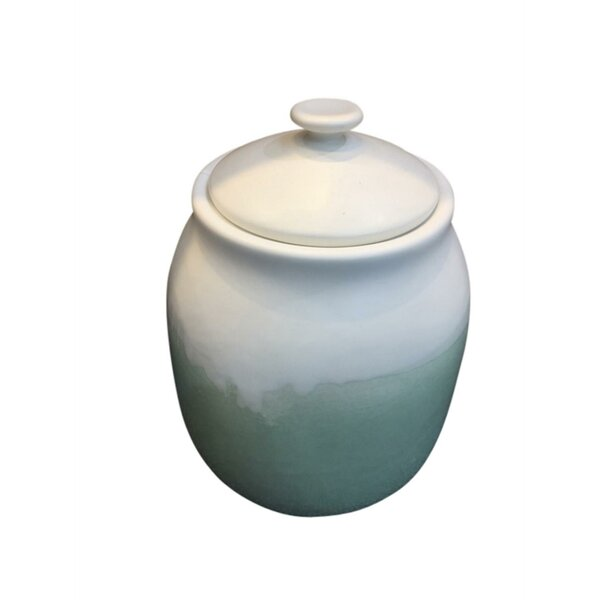 Charming Ceramic Covered Storage Jar by Highland Dunes