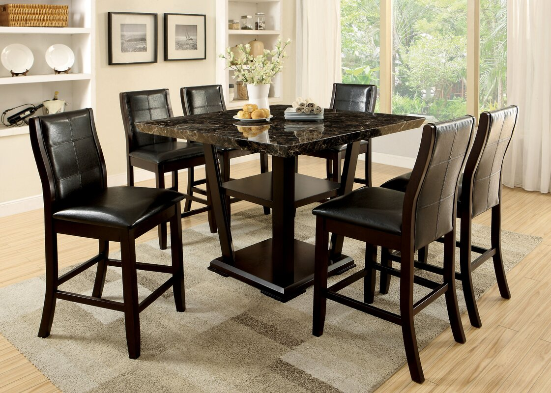 Zigler Minor 7 Piece Pub Table Set & Latitude Run Zigler Minor 7 Piece Pub Table Set \u0026 Reviews | Wayfair