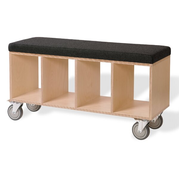 Birch Wooden Storage Bench by Offi