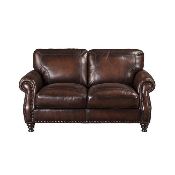 Trecartin Leather Loveseat by Darby Home Co