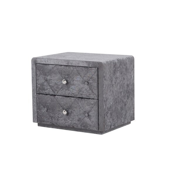 Vicket 2 Drawer Nightstand by Mercer41