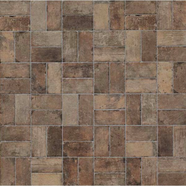 Chicago Brick 4 x 8 Porcelain Mosaic Tile in State Street by Tesoro