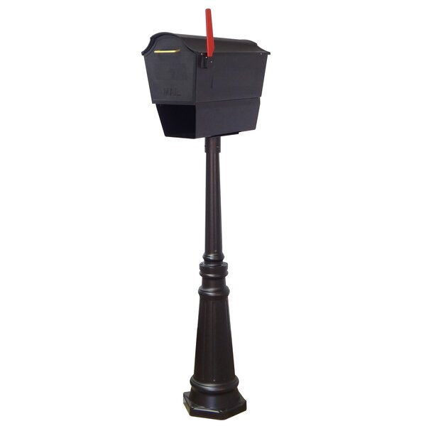 Town Square Curbside Locking Mailbox with Tacoma Post Included by Special Lite Products