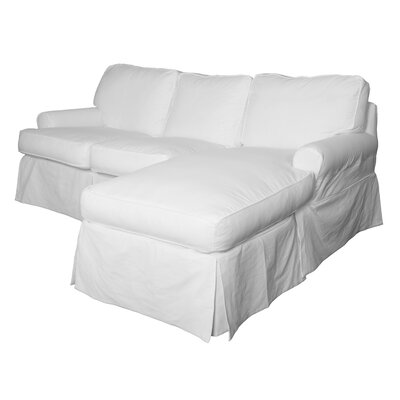 Beachcrest Home Reversible Sleeper Sectional Ottoman Fabric Sectionals