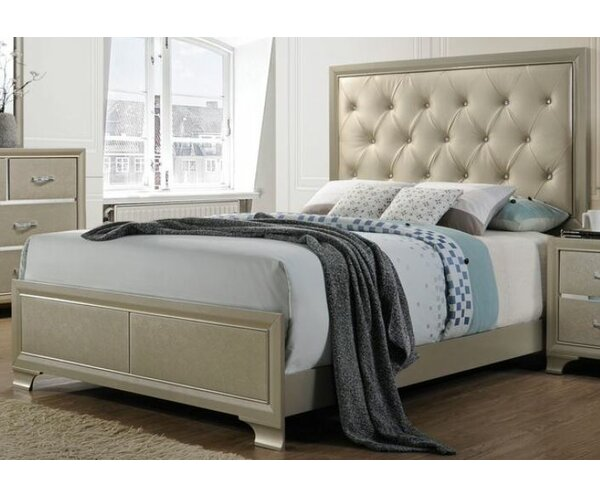 Paislee Upholstered Standard Bed by Rosdorf Park