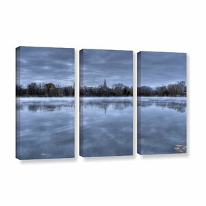 The Basilica-Notre Dame by Dan Wilson 3 Piece Photographic Print on Wrapped Canvas Set by ArtWall
