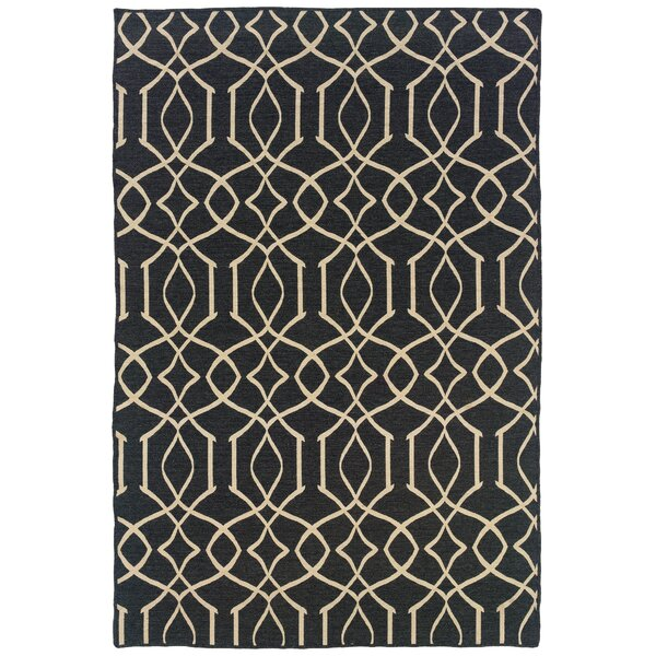 Blue Heron Hand-Tufted Grey/Natural Area Rug by Darby Home Co