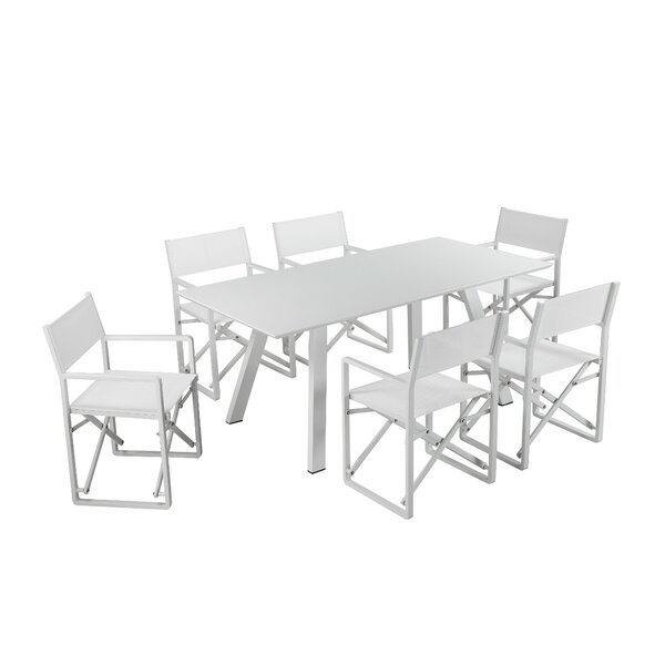 Ianthe Metal and PVC-Coated Polyester 7 Piece Dining Set by Latitude Run