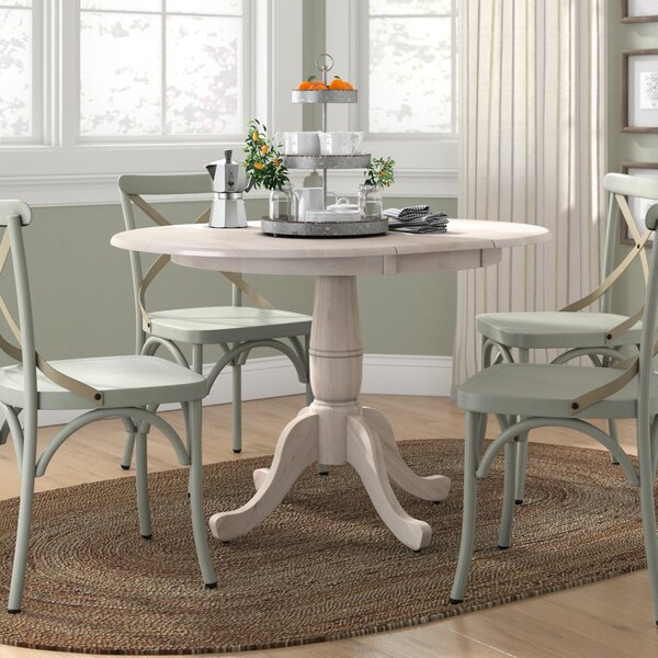 Overbay Extendable Solid Wood Dining Table by Lark Manor