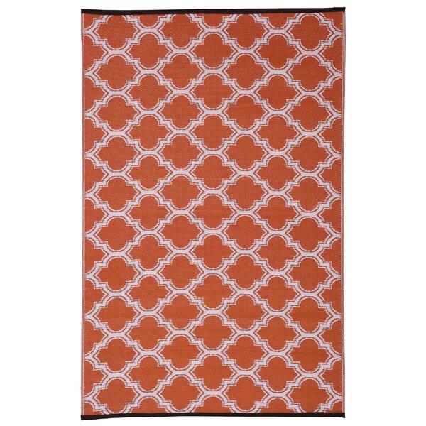 Walden Orange Indoor/Outdoor Area Rug by Charlton Home