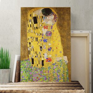 'The Kiss No.3' by Gustav Klimt Painting Print on Canvas