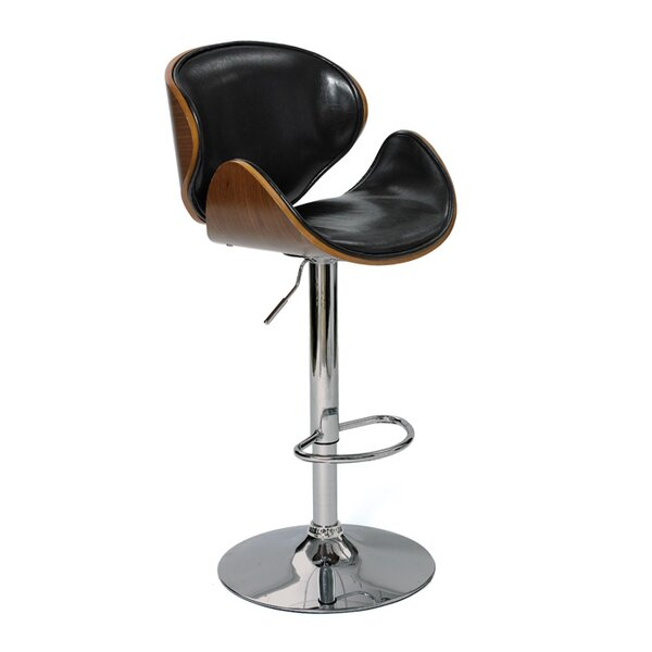 Fuston Adjustable Height Swivel Bar Stool by Brayden Studio