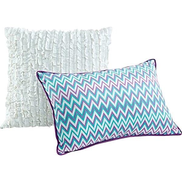 Eva Eyelet 2 Piece Cotton Decorative Pillow Set by Seventeen